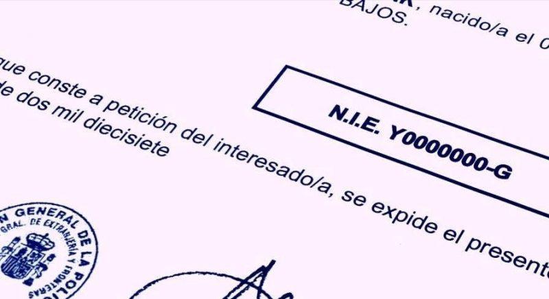 La solicitud del Número de Identidad de Extranjero (N.I.E.)